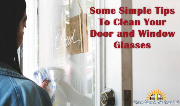 Clean Your Door and Window Glasses